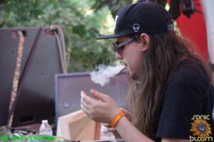 The Widdler smokin a J @Sonic Bloom