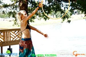 hooping at Backwoods Music Festival