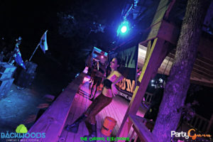 Performers during Chill Harris at Backwoods Music Festival