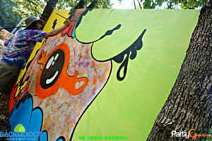 Painting at Backwoods Music Festival