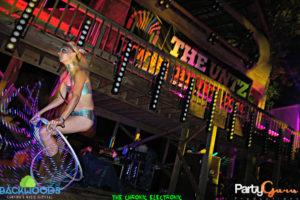 Performing duing Medusa at Backwoods Music Festival