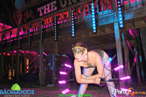 Performing duing Audien at Backwoods Music Festival