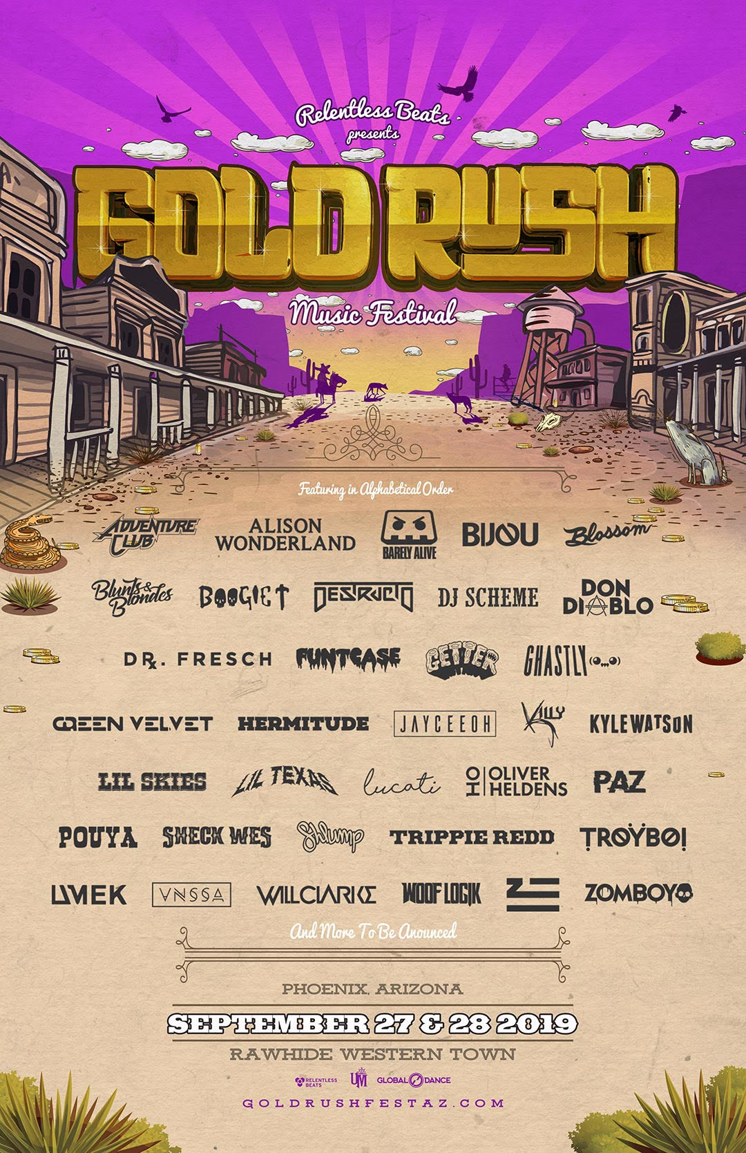 Goldrush 2019 Announces a Banning Lineup for Round 2 Artists